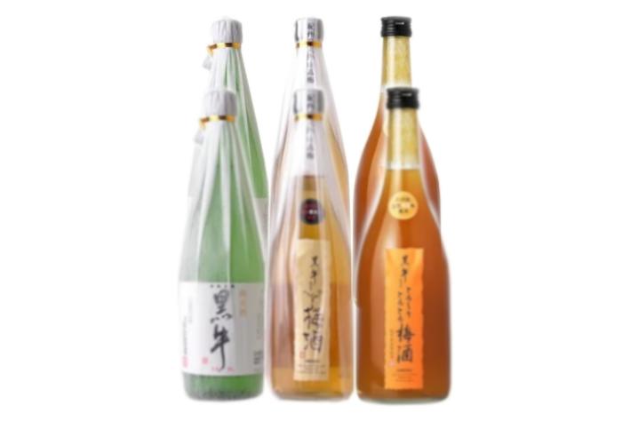 V6156_黒牛6本セット(純米酒720ml×2/梅酒720ml×2/とろーりとろとろ梅酒720ml×2)(E007)