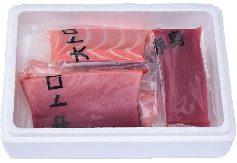AZ6006_本マグロ(養殖)赤身&トロセット 500g