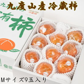 ZD6303_【まごころ栽培】九度山の冷蔵富有柿Mサイズ9玉入り
