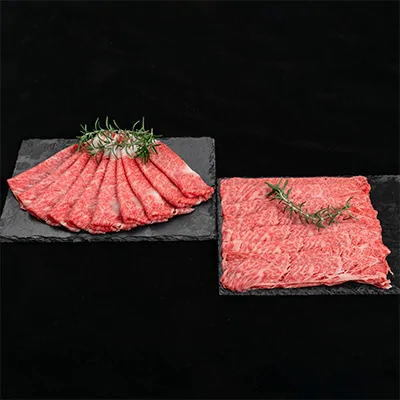 【ふるさと納税】【熊野牛】ロース・肩ロース すき焼き・しゃぶしゃぶ 約1kg
