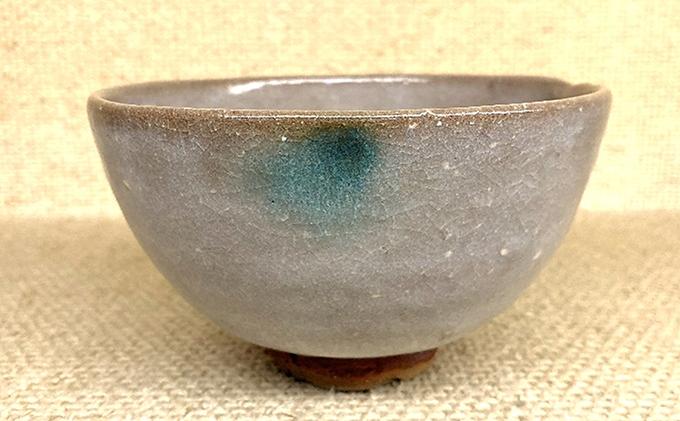 虫明焼 虫明白釉茶盌(黒井千左作)