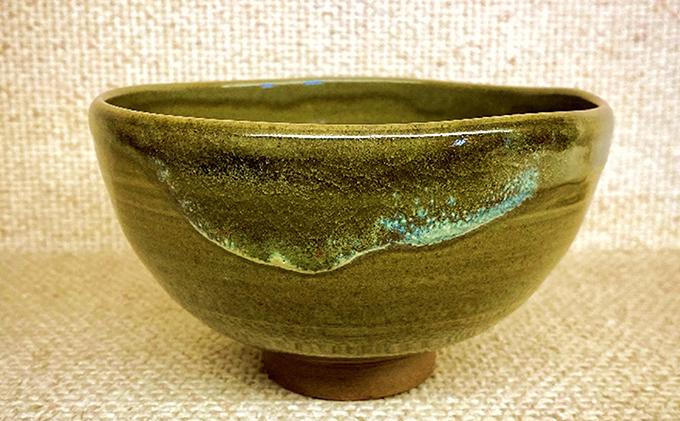 虫明焼 窯変灰釉茶盌(黒井千左作)