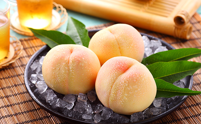 岡山県産 清水 白桃 約1.3kg【配達不可:離島】