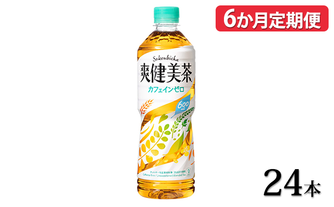 【6ヵ月定期便】爽健美茶 600mlPET 24本セット