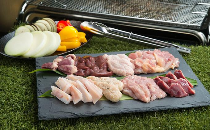 鮮度抜群でレア部位も含む6種入り、鶏肉専門店の「焼肉BBQセット(みはら神明鶏)」