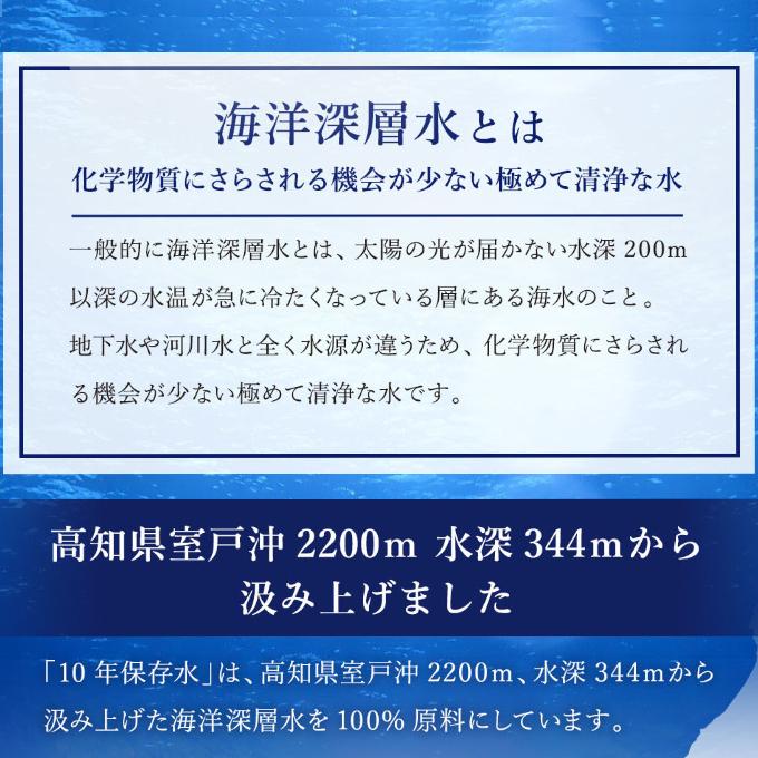 災害・非常時保存用「10年保存水」(10年保存可能)1.8リットル×12本セット