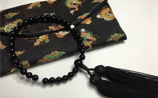 オニキスと白珊瑚の片手数珠