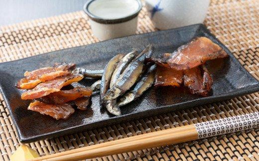 おさかなジャーキー3種セット<サワラ・きびなご・サメをレトルト食品にしました・化学調味料不使用です>