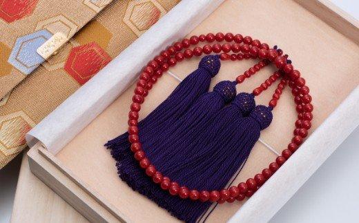 赤サンゴ 本連数珠(赤サンゴ5.5mm玉使用)