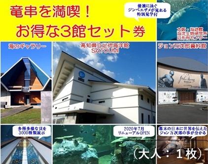 【AE-39】水族館・資料館・展示館 ぐるっと竜串 お得な3館セット券(大人1名)