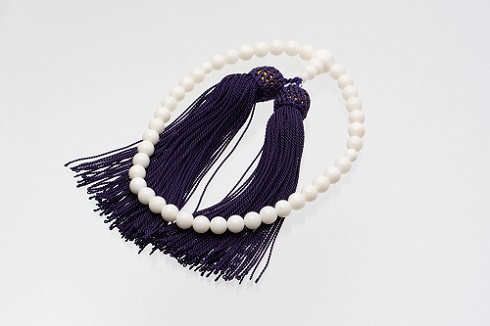 【AP-4】白珊瑚の数珠(選べるケース付)