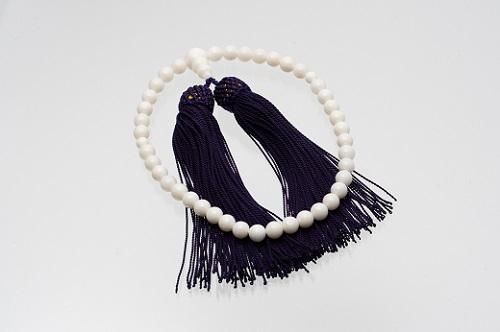 【I-9】白珊瑚の数珠(選べるケース付)