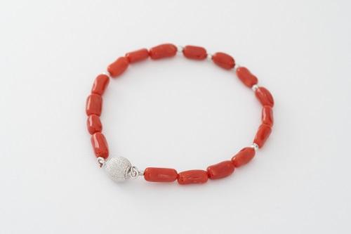 【BZ-1】天然赤珊瑚のブレスレット