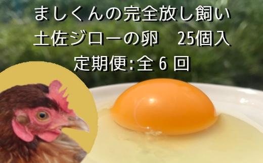 【AT-8】定期便:土佐ジローの卵(25個入り×6回)