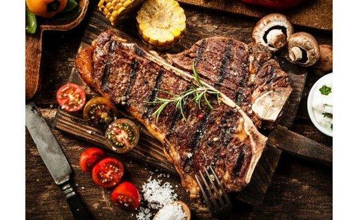 CG-006 サーロインとロース2種類のお肉が楽しめる牛Tボーンステーキ【古民家・胡座イタリアンオリジナル】