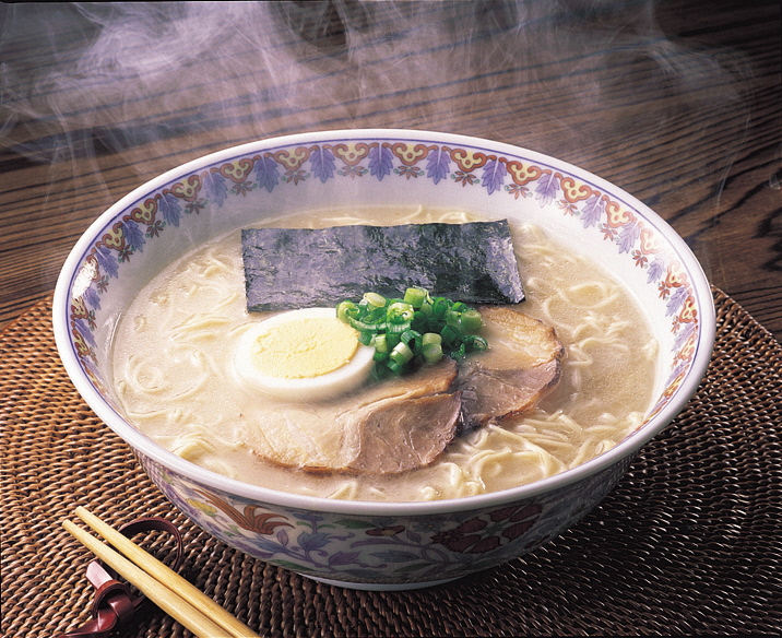 福岡県産ラー麦 生ラーメンとんこつ味 10食_KA0532