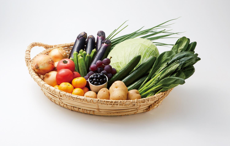 KB0031_お試し3ヵ月定期便「むなかた旬のお任せセット(旬のフルーツ1品・野菜7〜8品)」