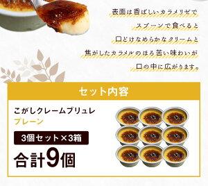 こがしクレームブリュレ(プレーン)<3個セット×3箱> 江口製菓(株)