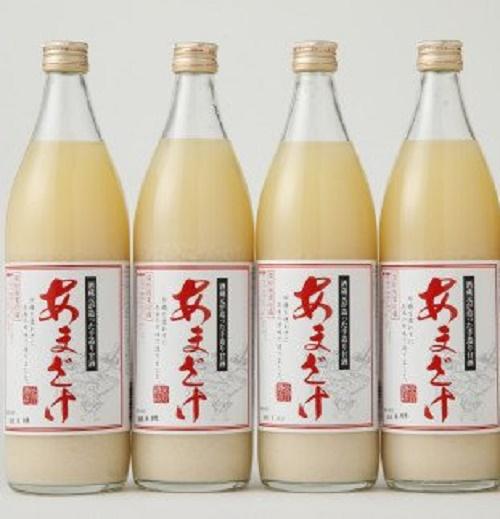 【翁酒造】甘酒 (900ml)×4本
