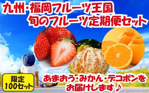 C046.【人気】九州・福岡フルーツ王国.旬のフルーツ定期便Cセット