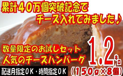 Z106.累計40万個突破記念!お試し1.2㎏!人気のチーズハンバーグ【150g×8個】
