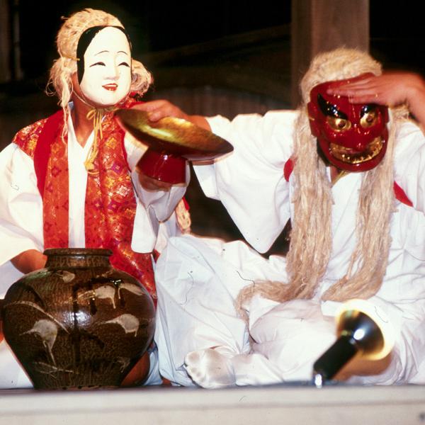 高木神社夜神楽 陶の舞