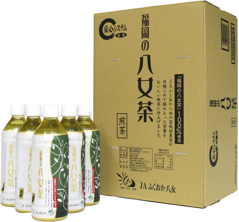 3CE1 福岡の八女茶 煎茶ペットボトル 500ml×24本(東峰村)