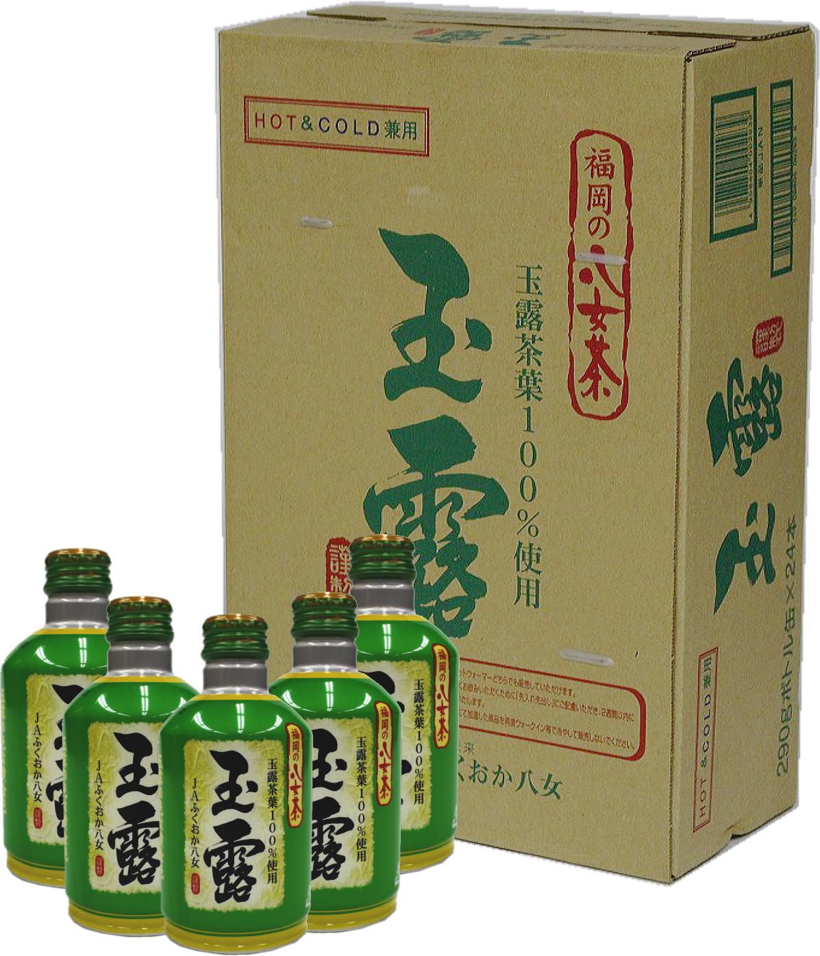 3CE2 福岡の八女茶 玉露ボトル缶 290ℊ×24缶(東峰村)
