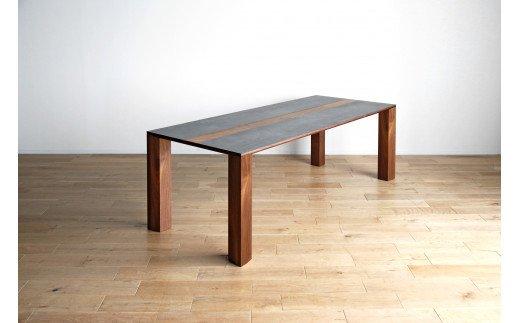 AL322【開梱・設置】セラミックテーブル バイソン テーブル210cm RN/CIG