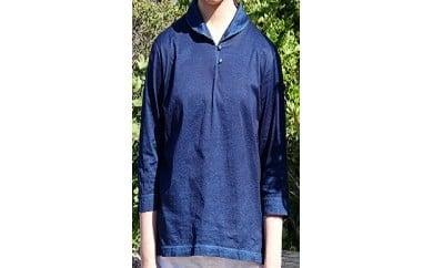 AJ05 松枝家 純正天然藍染めシャツ
