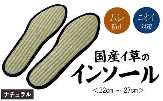 AA031 消臭い草インソール4足セットナチュラル 選べるサイズ
