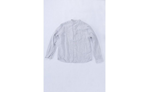 AO026 手染めリネン切替シャツ サイズ 3 LIGHT GRAY(薄墨染)