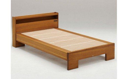 AH075 桐組子ベッド「ここちe」/セミダブル(麻の葉仕様)