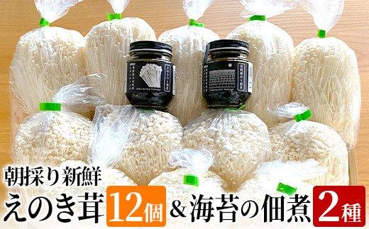 BF02 朝採り新鮮えのき茸と海苔の佃煮2種のセット