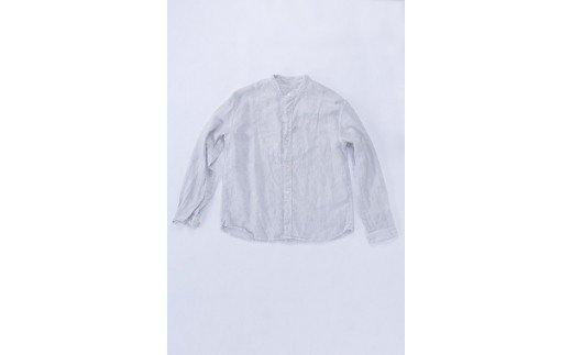 AO024 手染めリネン切替シャツ サイズ 2 LIGHT GRAY(薄墨染)