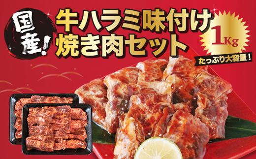 YB10 国産牛ハラミ味付け焼肉セット1kg