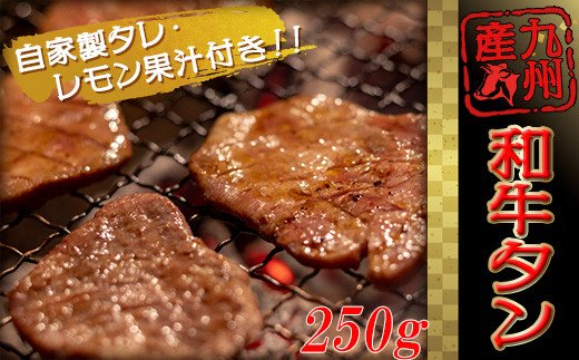 2B4 九州産 和牛タン 牛若丸自家製タレ付セット(250g×1パック)