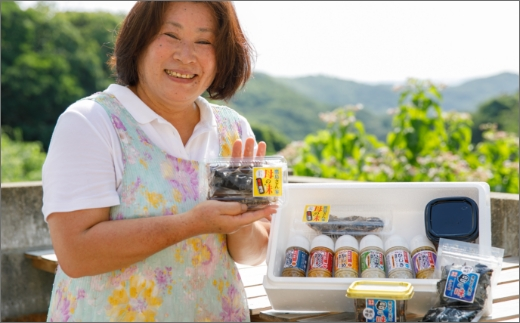 【B4‐036】鷹島さん家母の味(味噌・佃煮・味噌漬・ドレッシング)セット