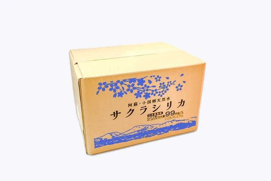 【定期便12ヶ月】阿蘇小国郷の天然水「サクラシリカ」500ml×40本