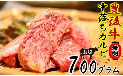 おおいた豊後牛の中落ちカルビ700g/焼肉用カット
