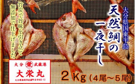 天然鯛の一夜干し2.0kg(4尾〜5尾)