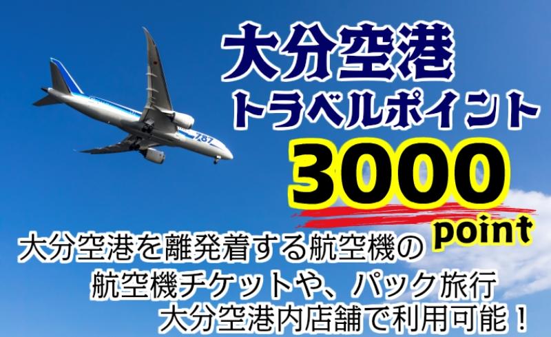 大分空港利用限定/新トラベルポイント/3000P