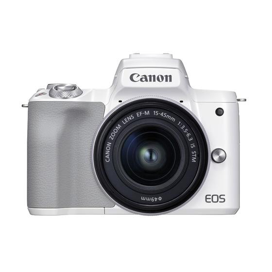 ミラーレスカメラ EOSKissM2・ レンズキット(ホワイト)
