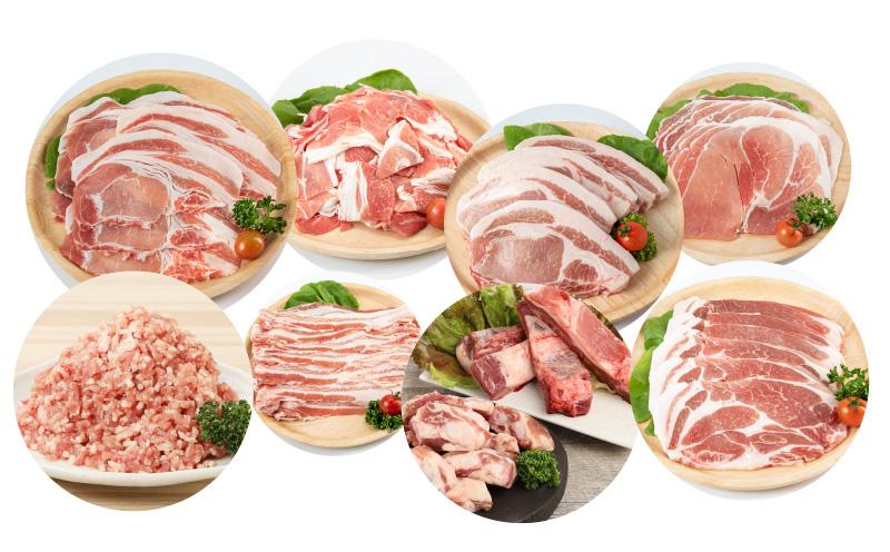 K26_T002【定期便12回】 放牧豚ブランド≪放牧和豚≫ 1年間毎月届く! 厳選食べつくし定期便