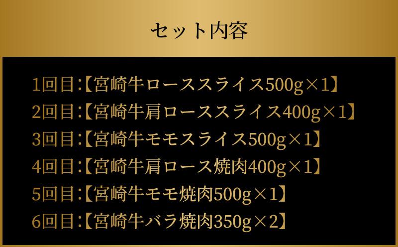 K18_T002 <極上の宮崎牛 6回定期便【B】>