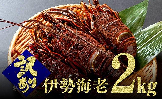 【訳あり】伊勢海老2kg(3~8尾)※冷凍※