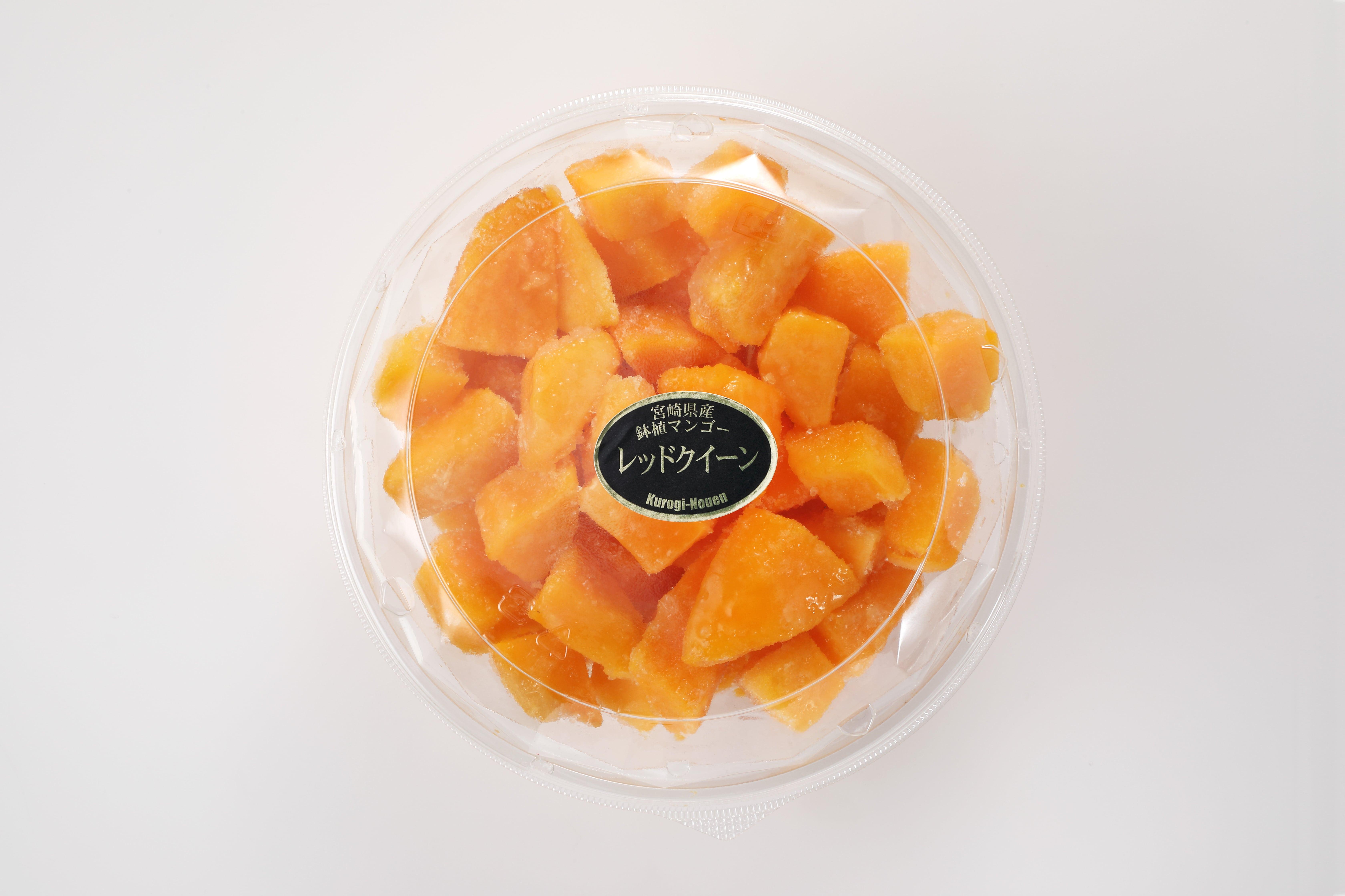 無糖でも濃厚な甘さ「宮崎県産完熟マンゴー冷凍カット500g」