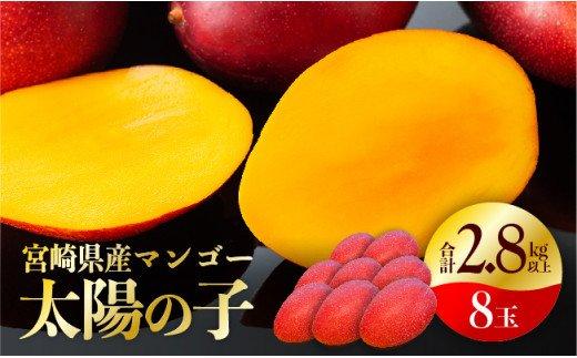 宮崎マンゴー『太陽の子』8玉(2.8kg以上)