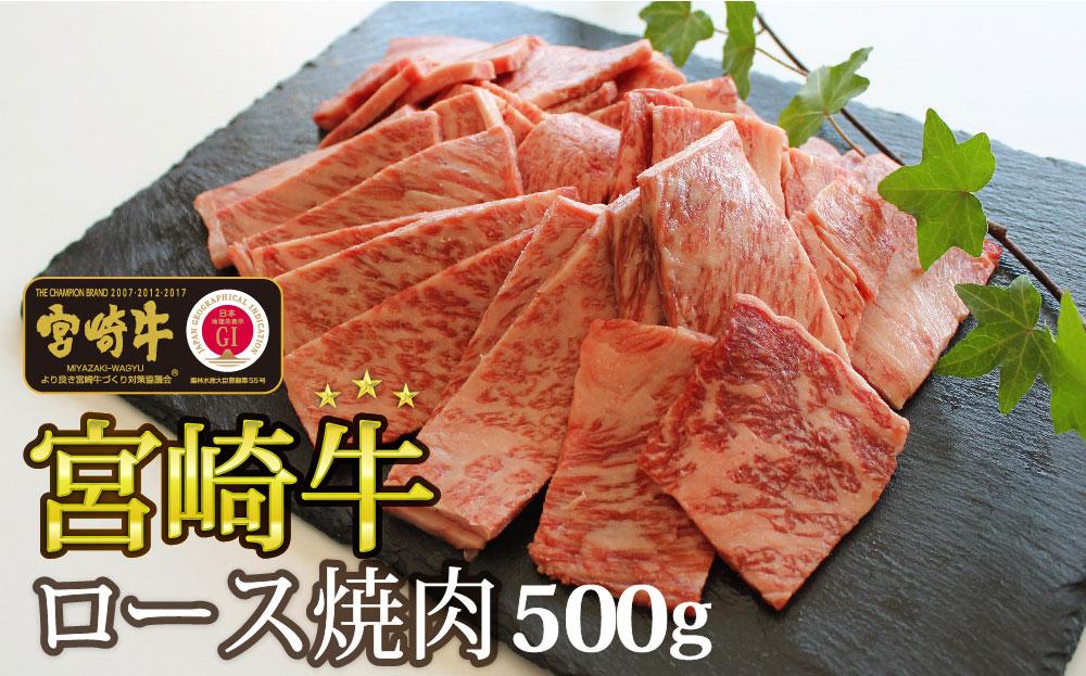 宮崎牛 ロース焼肉 500g