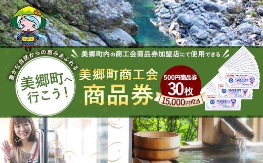 美郷町商工会商品券(500円×30枚)15,000円相当 地域お買い物券